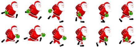 Santa Claus Running Animation Sprite sheets,