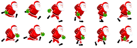 Santa Claus Running Animation Sprite sheets,