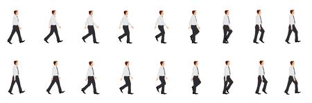 Geschäftsmann zu Fuß Zyklus Animationsblatt Vektorgrafik