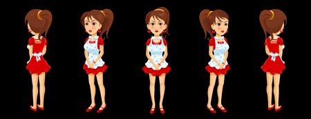 Girl character model sheet