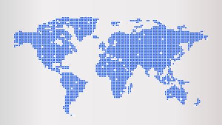 Blue Dotted World Map 일러스트
