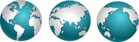 Set of globes Stock Illustratie