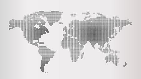 Grey World Map 免版税图像 - 108212127
