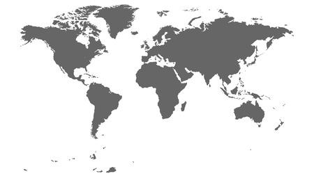 Grey World Map 일러스트