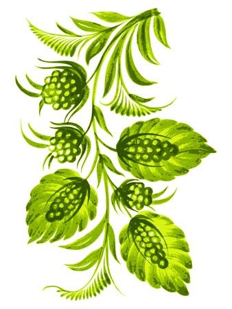 hand drawn, vector, illustration in Ukrainian folk style Stock Vector - 19451841