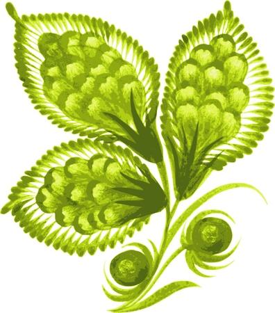 trefoil: hand drawn, vector, illustration in Ukrainian folk style Illustration