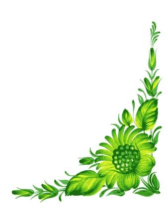 hand drawn, vector, illustration in Ukrainian folk style Illustration