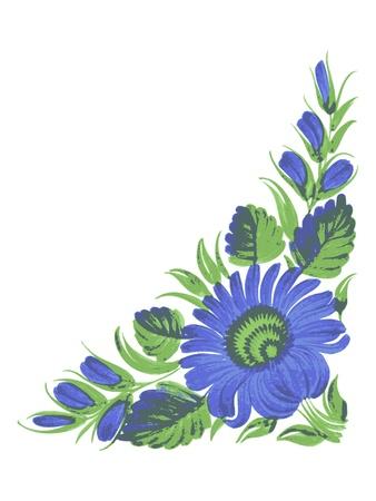 hand drawn, illustration in Ukrainian folk style Иллюстрация