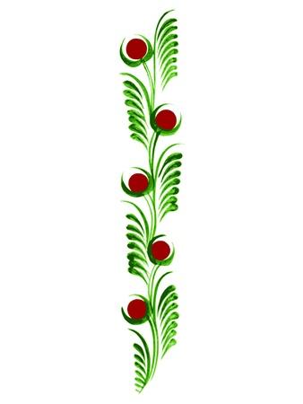 hand drawn, vector, illustration in Ukrainian folk style Иллюстрация