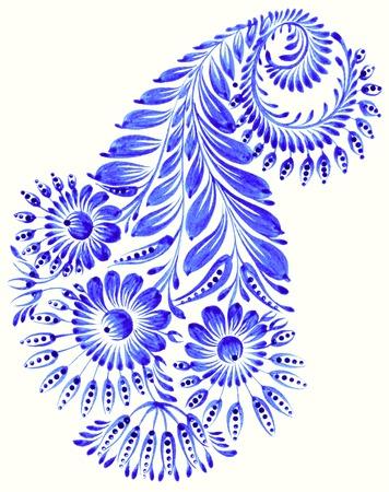 high resolution, hand drawn illustration in Ukrainian folk style