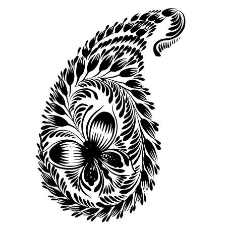ethnics: vector, artistic, decorative silhouette in grunge style