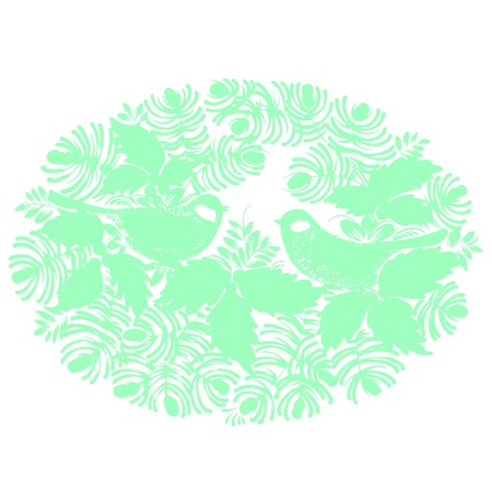 vector, artistic, decorative silhouette in grunge style Stock Vector - 26010686