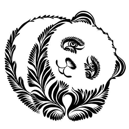 oso panda: vector, artístico silueta, decorativo en el estilo grunge Vectores