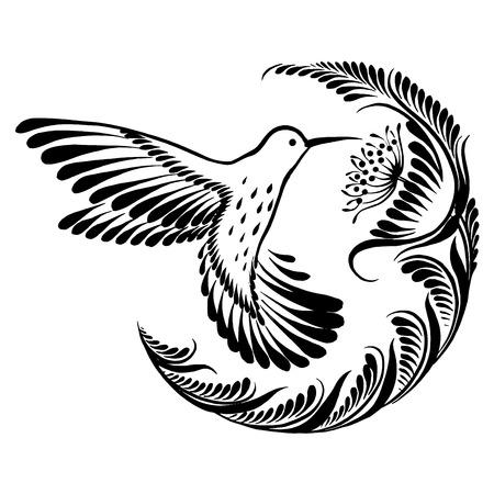 vector, artistiek, decoratief silhouet in grunge stijl