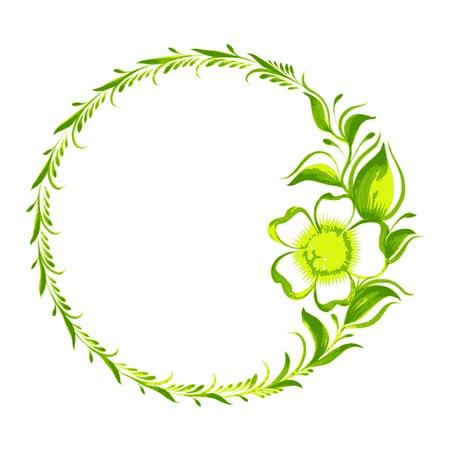 hand drawn illustration in Ukrainian folk style Иллюстрация
