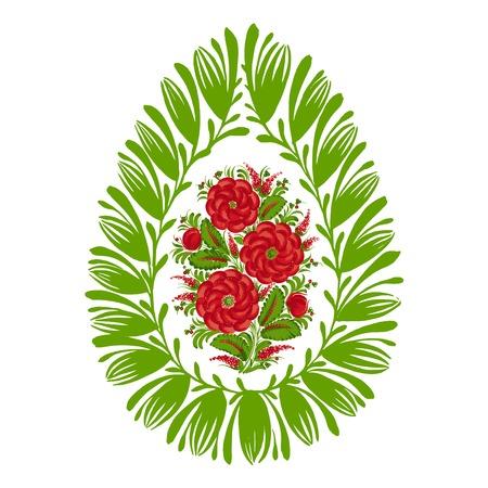 hand drawn illustration in Ukrainian folk style Stock Vector - 28024879