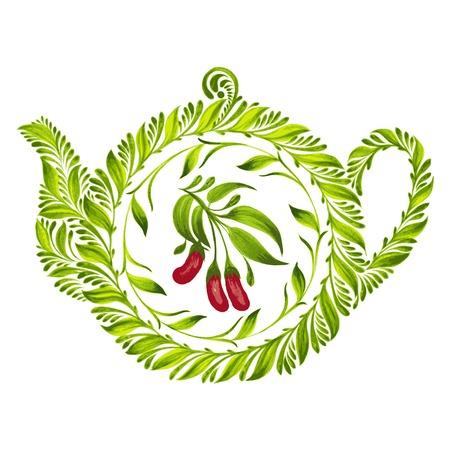 hand drawn illustration in Ukrainian folk style Stock Vector - 28024884