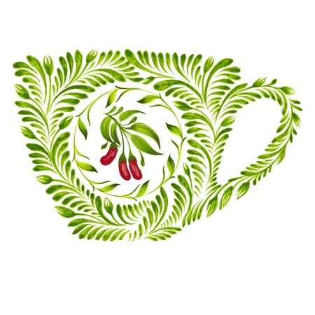 hand drawn illustration in Ukrainian folk style Stock Vector - 28024891