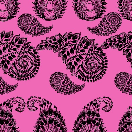 coloured seamless pattern with motive of flower Vector