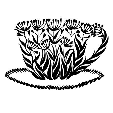 decorative silhouette in grunge style Иллюстрация