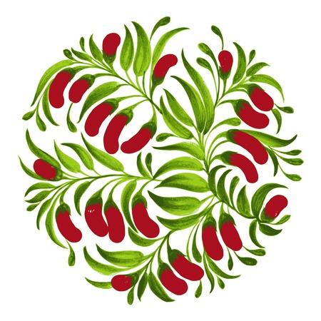 hand drawn illustration in Ukrainian folk style Stock Vector - 28849037