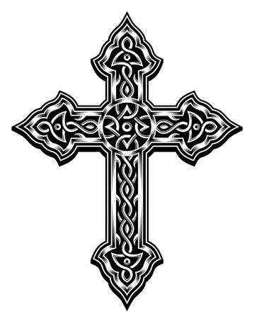 Orné croix chrétienne Vecteur Banque d'images - 20900297