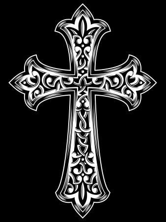 旧式なキリスト教十字架