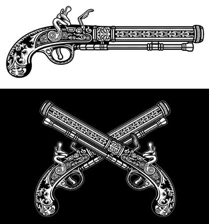 수발 골동품 권총