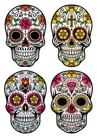 Día del cráneo muerto del vector Foto de archivo - 23149859