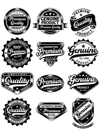 Set van Premium kwaliteit en Genuine Vintage Etiketten