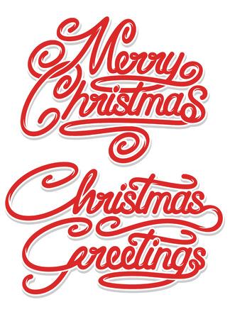 Merry Christmas Calligraphic Text