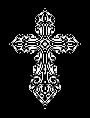 Gothic Cross Illustration