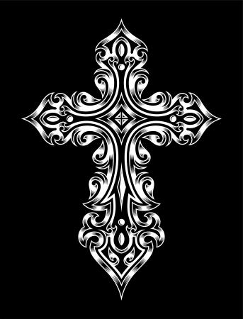 cross tattoo symbol: Gothic Cross Illustration