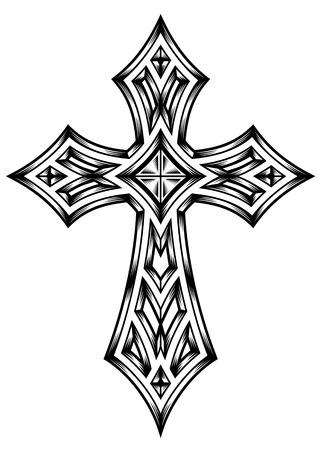cross tattoo symbol: Heraldic Cross