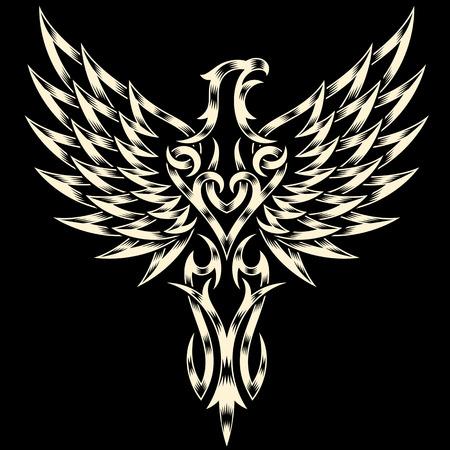 tatouage oiseau: Héraldique Aigle
