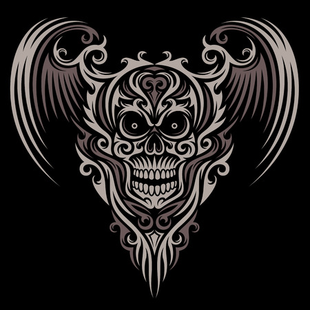 Ornato Winged Skull