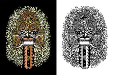 Balinese demone Mask