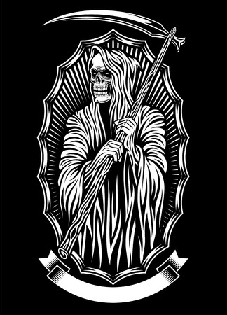 Grim Reaper Vector Art Illustration