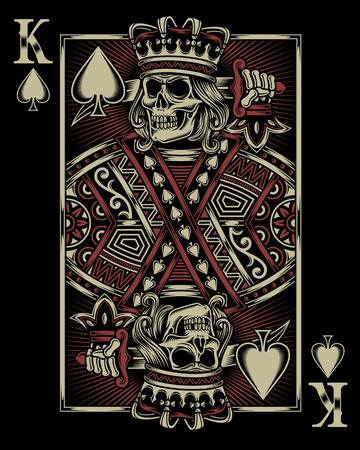 Skull Playing Card Illustration