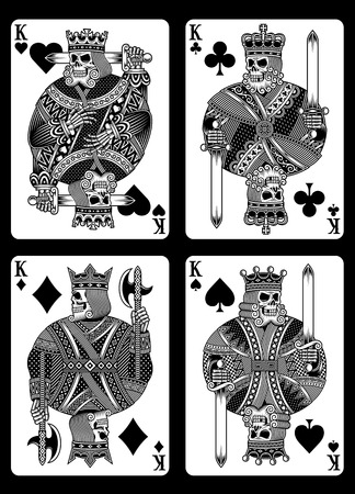 Set of Skull Playing Cards vector illustration