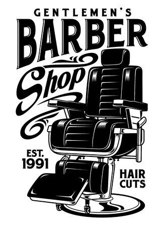 Barbershop Chair Vector Illustration Çizim