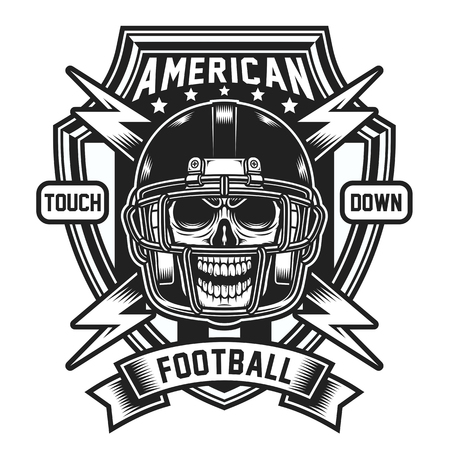 American Football Skull Emblem