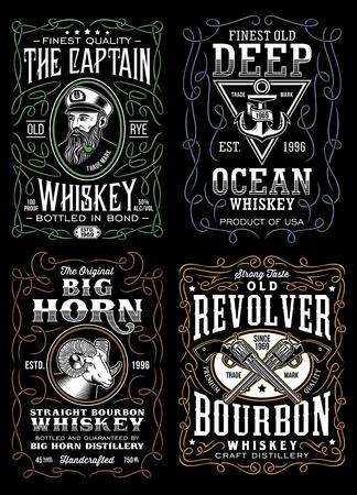 Vintage Whiskey Label T-shirt Design Collection