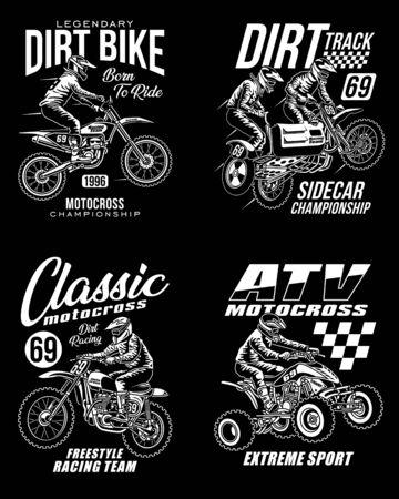 Kollektion von Motocross-T-Shirts mit Grafik