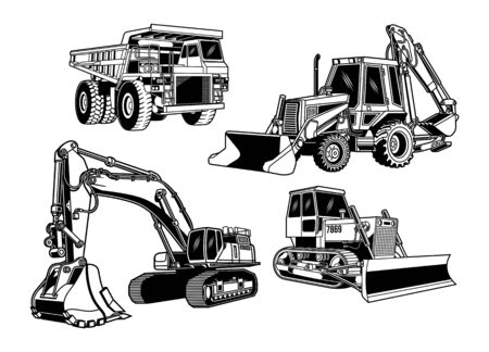 Colección de equipos de construcción Ilustración de vector