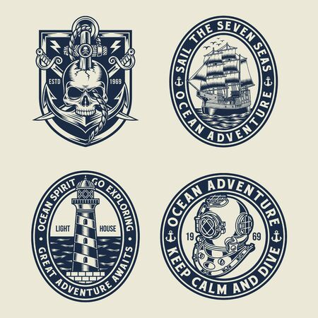 Nautical Emblem T-shirt Graphic Collection