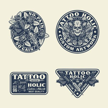 Tattoo Emblems, Labels and T-shirt Graphic Collection