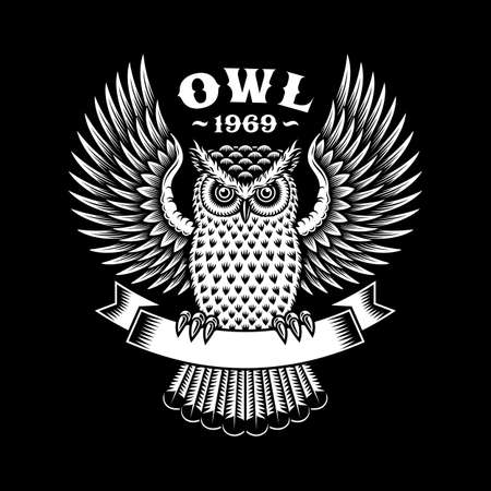 Owl Emblem On Black
