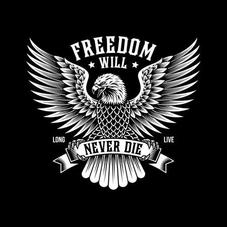 American Eagle Emblem On Black