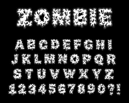 Zombie and Monster Letters Vector Illustration, image suitable for poster, print design or graphic t-shirt Ilustração